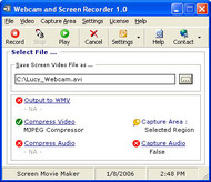 Webcam and Screen Recorder small screenshot