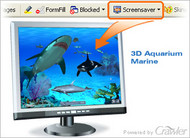 Crawler 3D Marine Aquarium Screensaver small screenshot