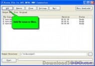 Freez Flv to AVI MPEG WMV Converter small screenshot