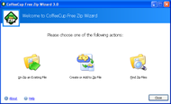 CoffeeCup Free Zip Wizard small screenshot