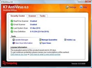 K7 AntiVirus small screenshot