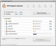 AVS Registry Cleaner small screenshot