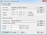 Eye4Software Coordinate Calculator small screenshot