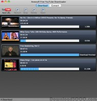 Aneesoft free YouTube Downloader for Mac small screenshot