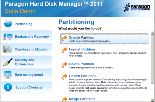 Paragon Hard Disk Manager 2011 Suite