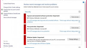 How to Turn on Windows Defender in Windows 8/Windows 8.1?