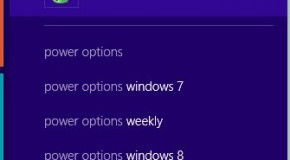 Changing Power Options in Windows 8/8.1