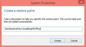 How to Create a Restore Point in Windows 8/8.1?