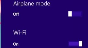 Turning off Airplane Mode in Windows 8/8.1